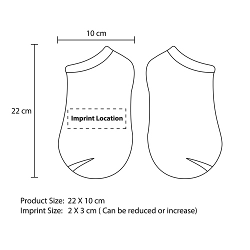 Ankle Cotton Socks Imprint Image