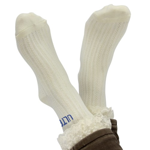 Womens Liner Eyelet Lace Socks Image 3