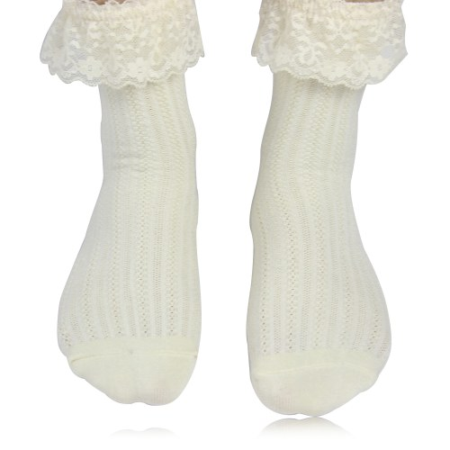 Womens Liner Eyelet Lace Socks Image 4
