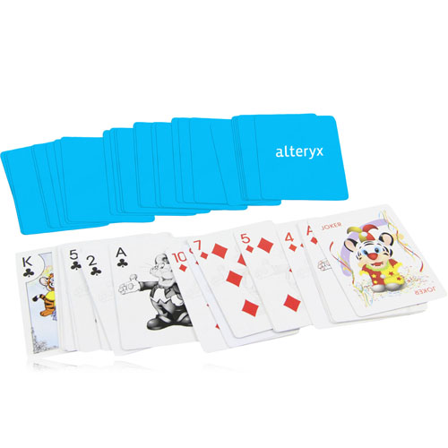 Cartoon Poker Playing Cards