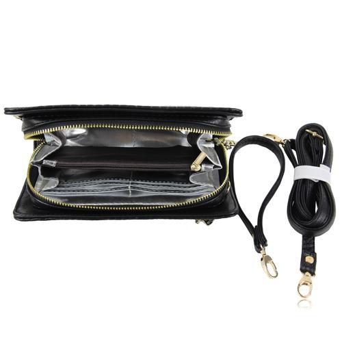 Leather Clutch Ladies Zipper Handbag