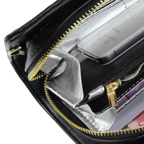 Leather Clutch Ladies Zipper Handbag