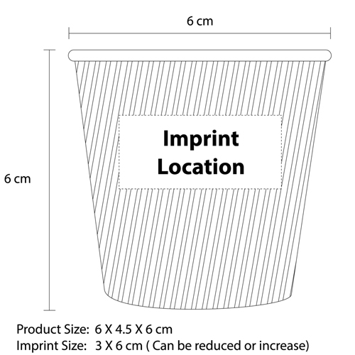 4 Oz Double Corrugated Cup Imprint Image