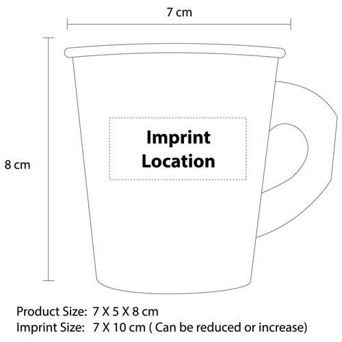 7 Oz Disposable Handle Paper Cup Imprint Image