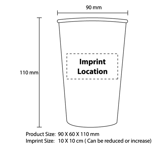14 Oz Disposable Paper Cup Imprint Image