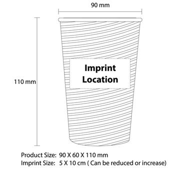 12 Oz Kraft Ripple Corrugated Wall Cup