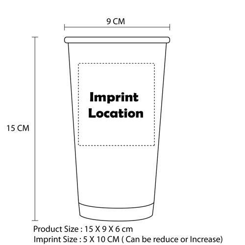 20 Oz Hollow Party Paper Cup Imprint Image