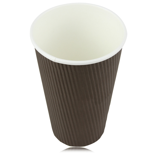16 OZ Corrugated Disposable Cup Image 1