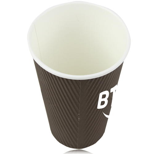 16 OZ Corrugated Disposable Cup Image 2