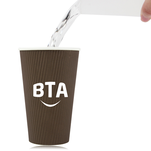 16 OZ Corrugated Disposable Cup Image 3