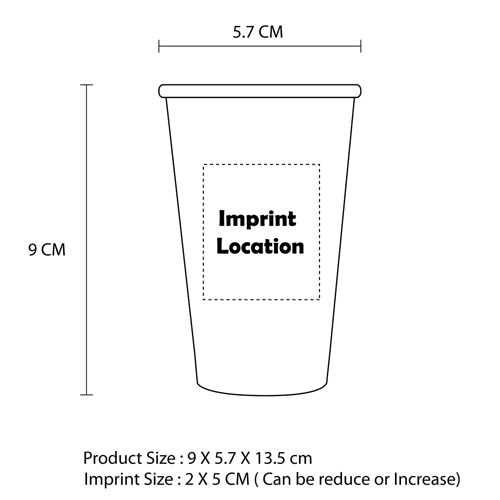 16 OZ Corrugated Disposable Cup Imprint Image