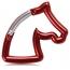 Horse Head Carabiner Keychain Image 1