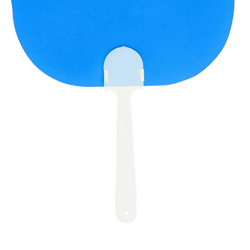 Plastic Curved Hand Fan Image 3