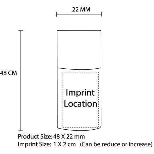 4GB Wine Cork USB Flash Drive Imprint Image