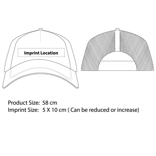 Two Tone Trucker Mesh Back Cap Imprint Image
