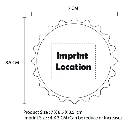 Bottle Opener Folding Cup Imprint Image