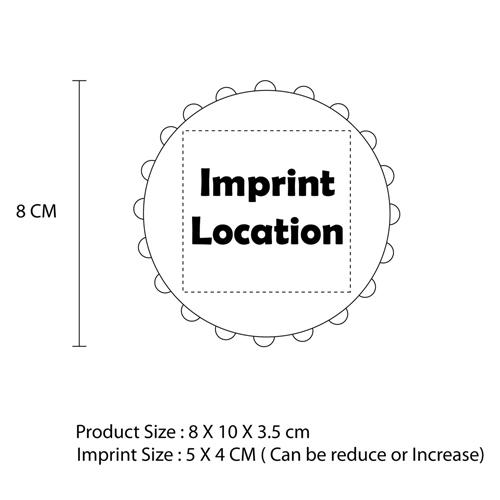 Telescopic Flatten Cup With Opener Imprint Image