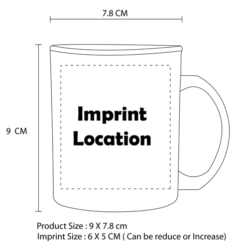 C Handle Plastic Cup Imprint Image