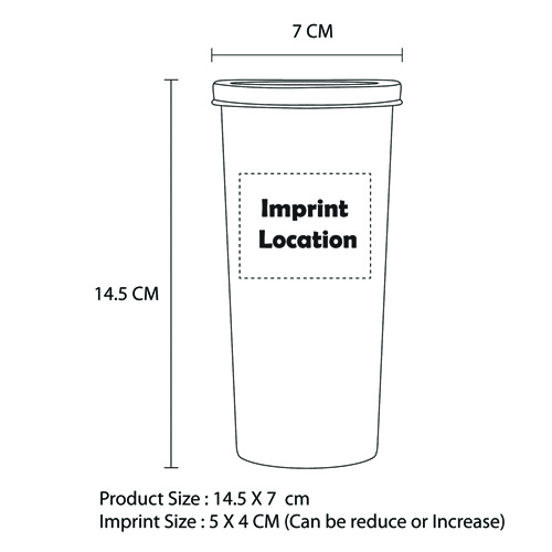 Long Plastic Cup Imprint Image