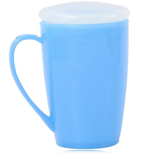 Tapered Plastic Mug With Lid Image 11