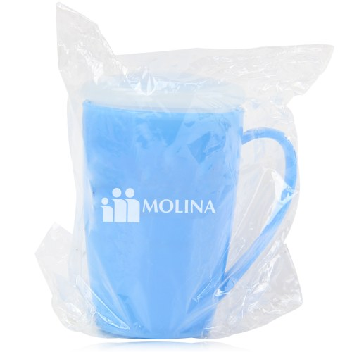 Tapered Plastic Mug With Lid Image 12