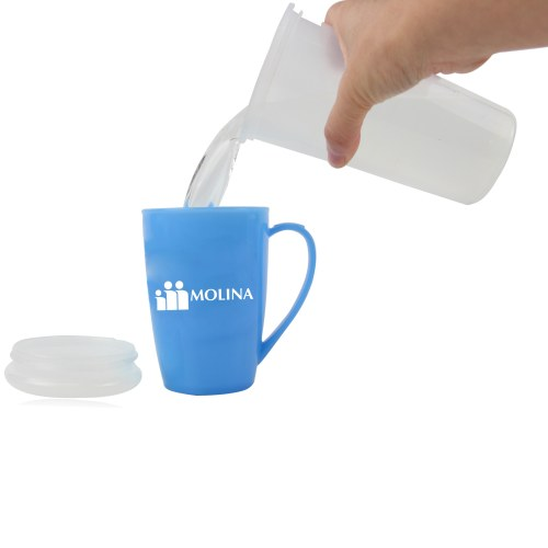 Tapered Plastic Mug With Lid Image 3