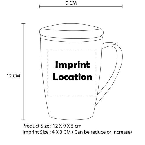 Tapered Plastic Mug With Lid Imprint Image