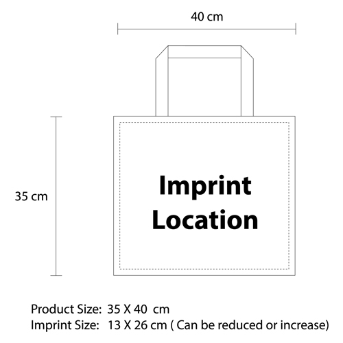 Big Non-Woven Tote Bag Imprint Image