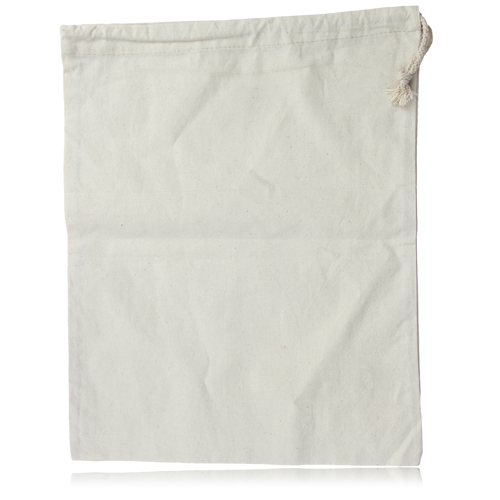 Natural Cotton Drawstring Shoe Bag
