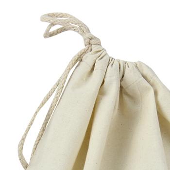 Natural Cotton Drawstring Shoe Bag