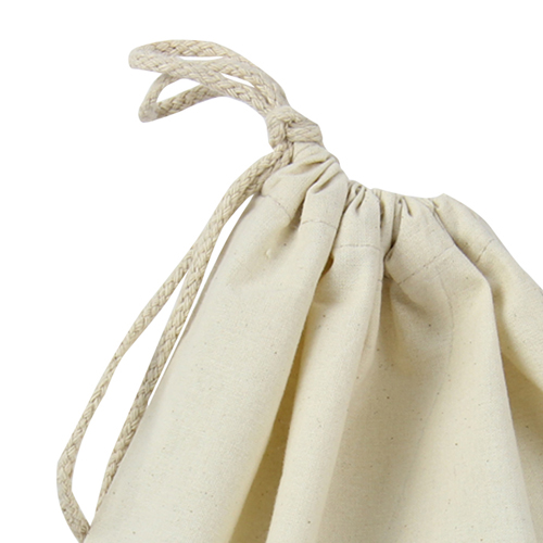 Natural Cotton Drawstring Shoe Bag Image 6
