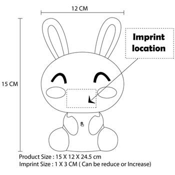 Touch Control Rabbit Head Desk Lamp