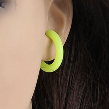 Silicon Hook Logo Earring