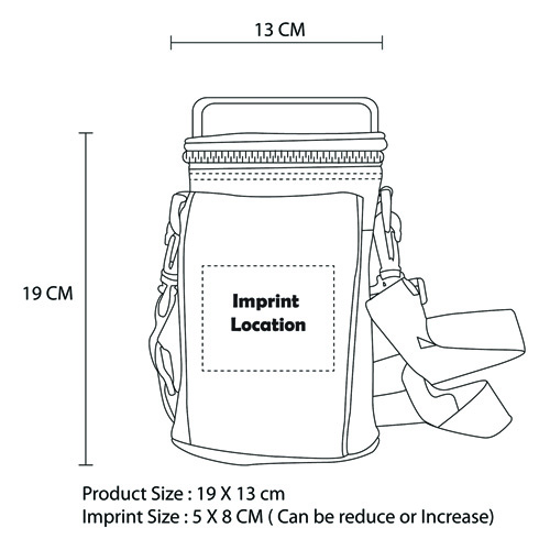 Outdoor Insulated Picnic Lunch Bag Imprint Image