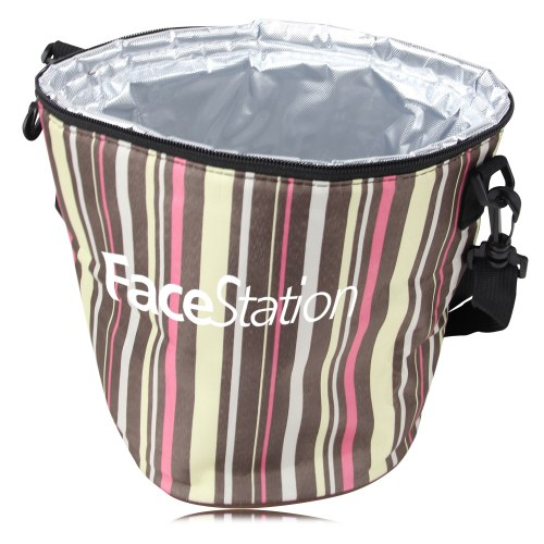 Round Cylindrical Insulated Lunch Bag