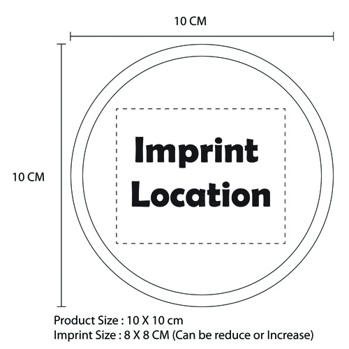 Round Cold Gel Pack Imprint Image
