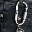 D Screw Lock Carabiner Keyring