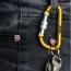Screw Lock D Hung Carabiner Keyring Image 3