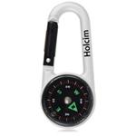 Compass Carabiner Keychain