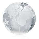 Mini Crystal Globe Paper Weight