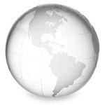 Medium Clear Crystal Globe Paperweight