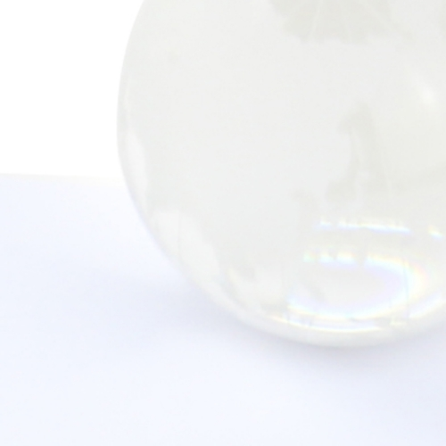 Medium Clear Crystal Globe Paperweight Image 7