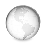Large Crystal Clear Globe Paperweight