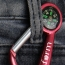 Carabiner Flashlight With Compass