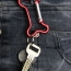 Bone Shaped Carabiner Keychain