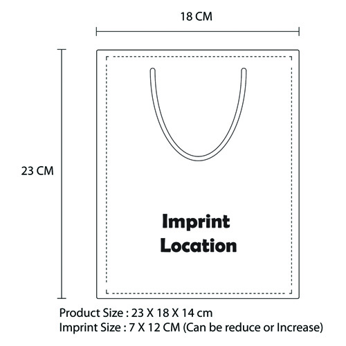 Shopping Paper Bag Imprint Image