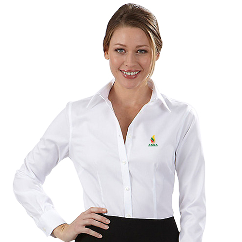 Pinstripe Women Dress Shirt