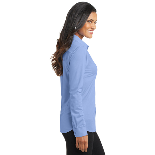 Pinstripe Women Dress Shirt Image 3