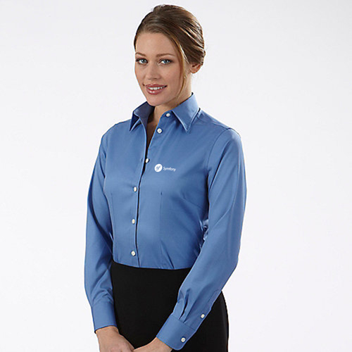 Pinstripe Women Dress Shirt Image 4