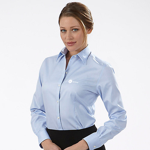 Pinstripe Women Dress Shirt Image 5